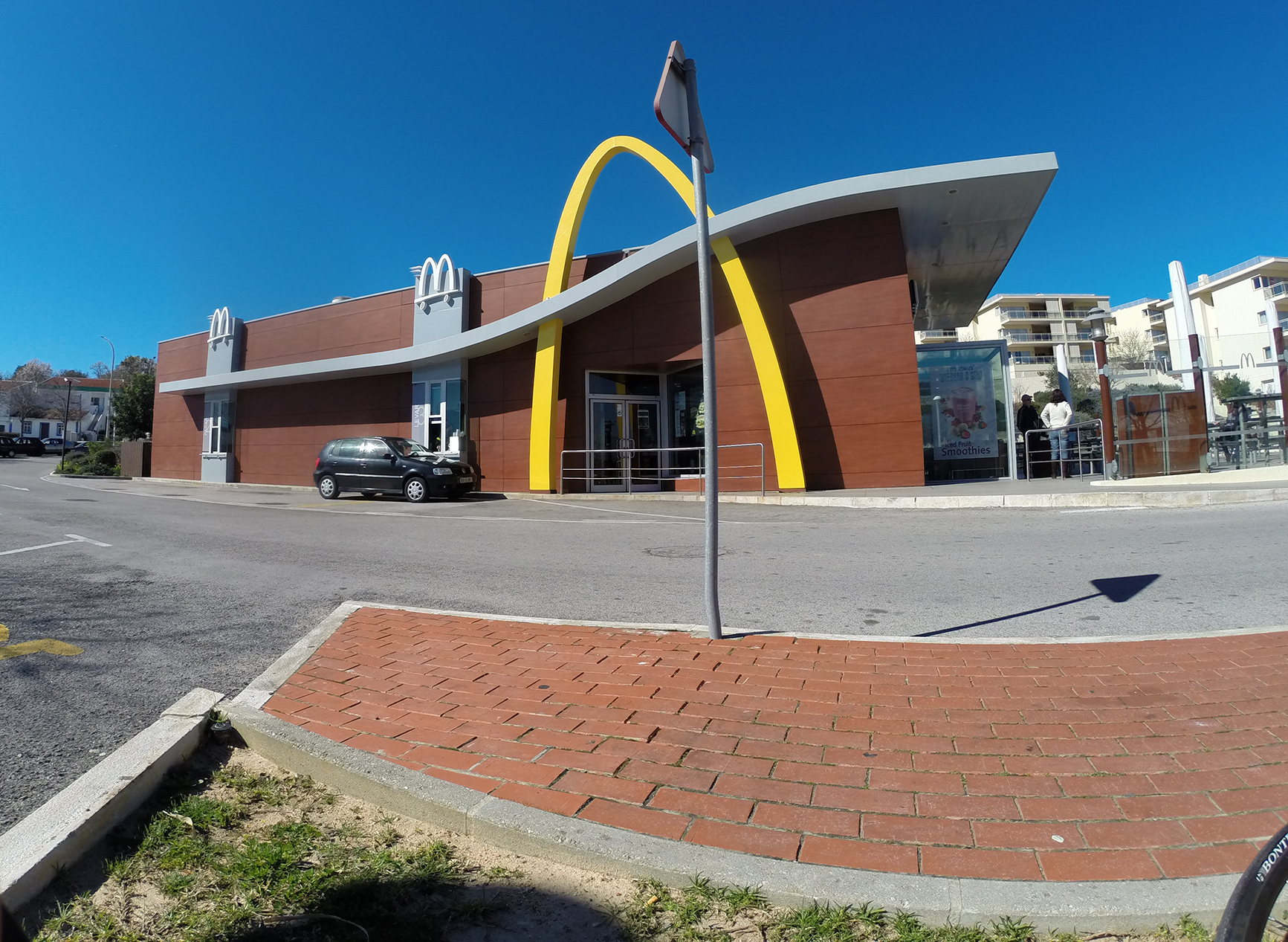 Stopping at a McDonalds in Lagos, Algarve, Portugal