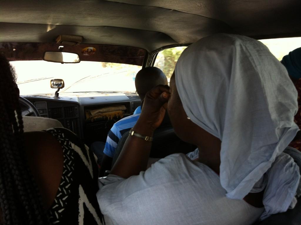 Crammed into a Taxi in Dakar, Senegal