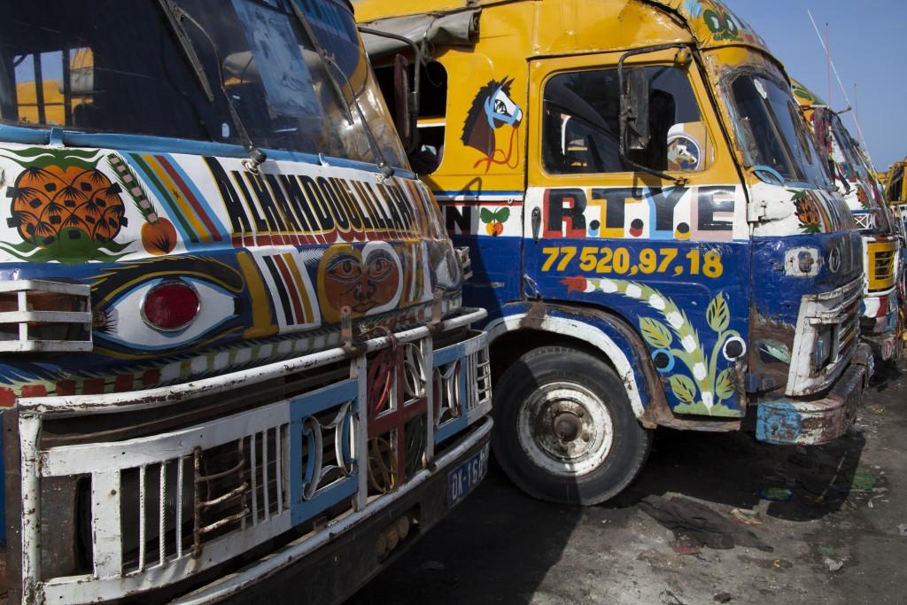 The rapides, or mini-buses in Dakar, Senegal