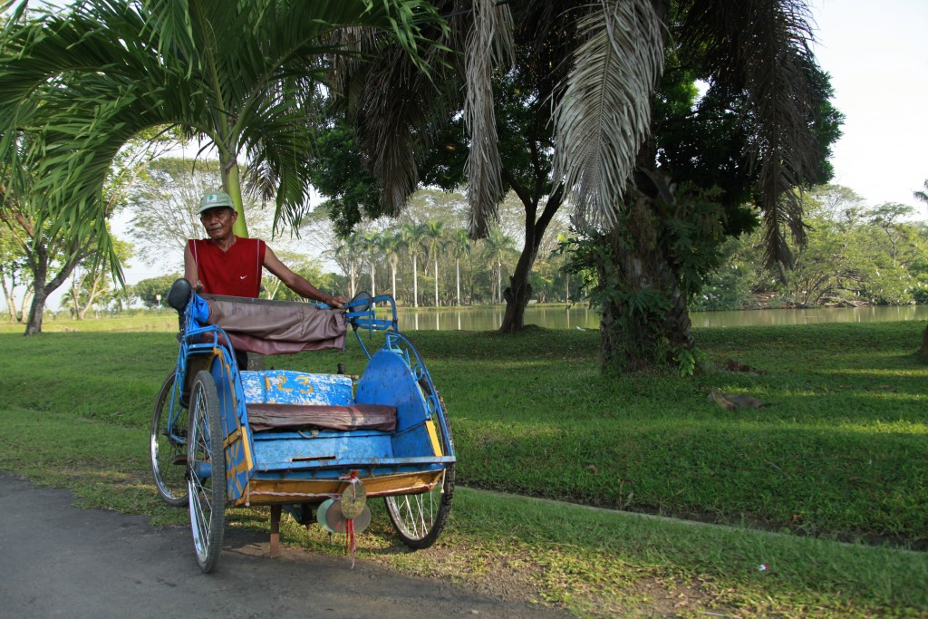 Empty Rickshaw in West Java