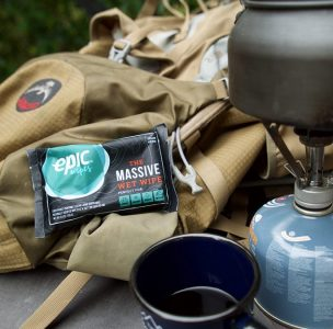 Epic Wipes for backpacking