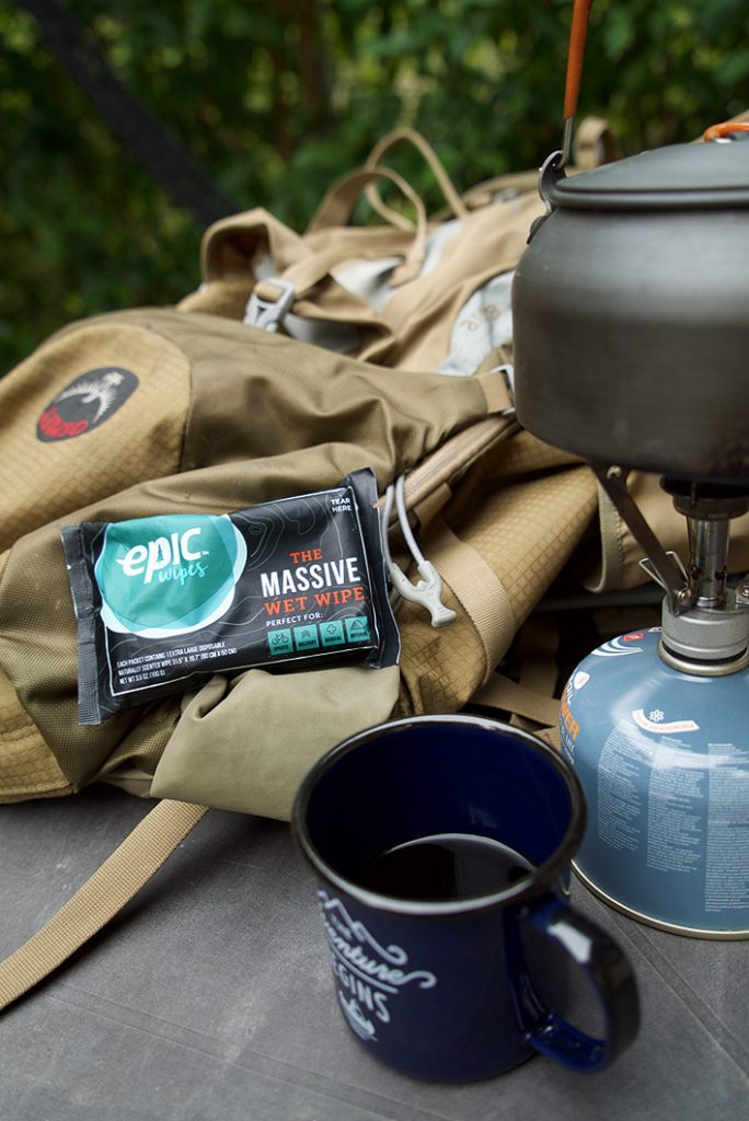 Epic Wipes, The Massive Wet Wipe for backpacking.