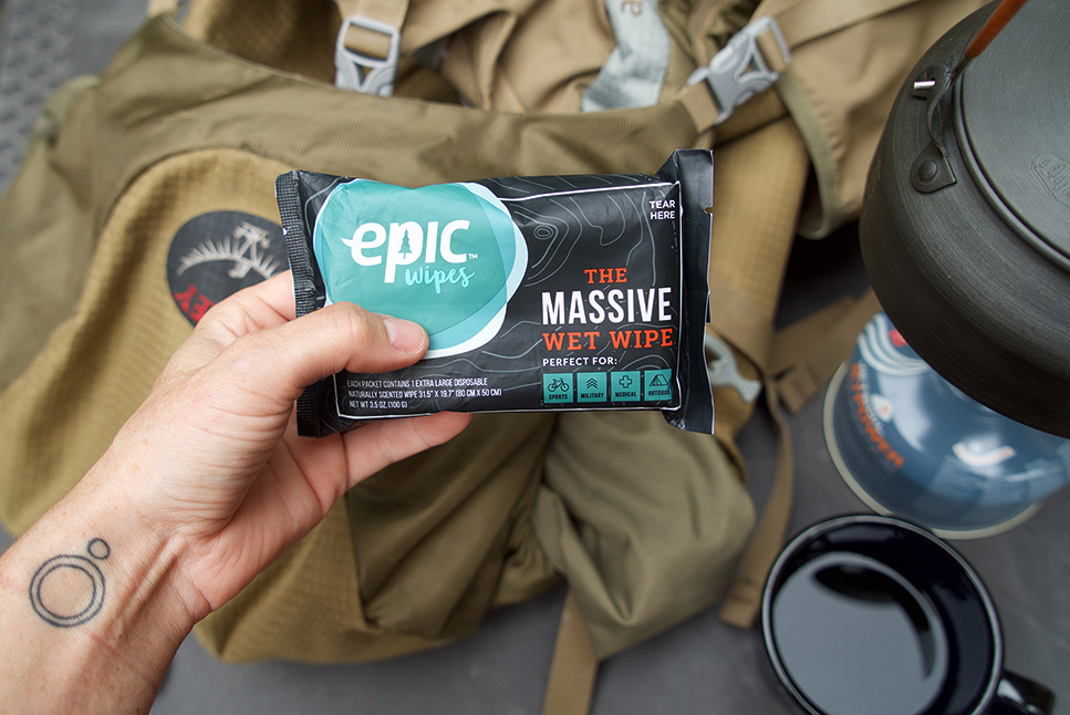 Epic Wipes Backpacking