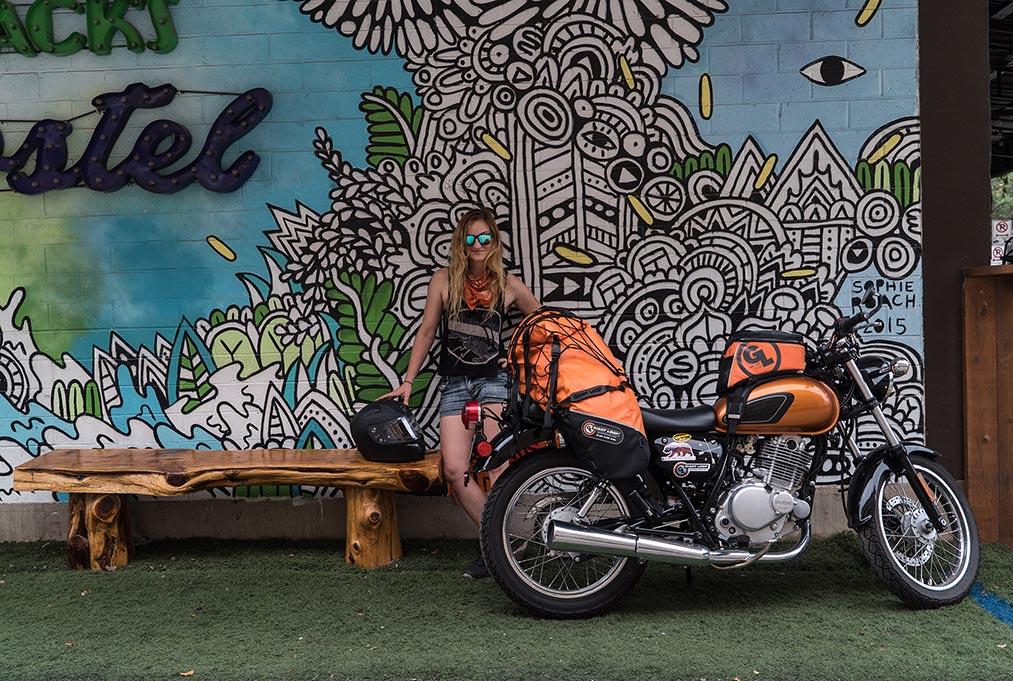 Austin Motorcycle Trip Lone Rucksack