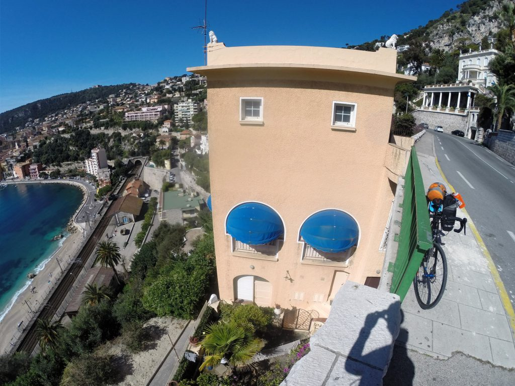 The South of France was absolutely spectacular for cycling. The roads went up and down, climbing up cliffs only to fly down into tiny French towns where I'd buy a baguette and Nutella and sit in some town square devouring them.